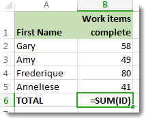 Defined name used in a formula