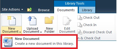 Adding a new document to a Document Library