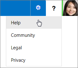 Select ? to get general admin help