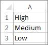 Custom list example
