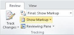 Show Markup command