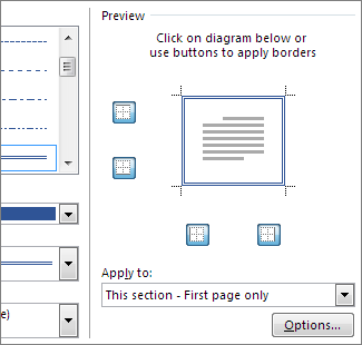 Preview box to show page borders
