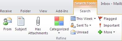 Instant Search refine commands