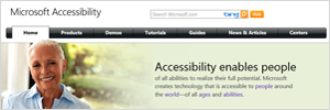 Microsoft Accessbility Website