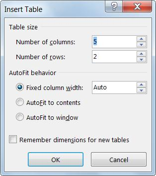 how to create a table in word 2010