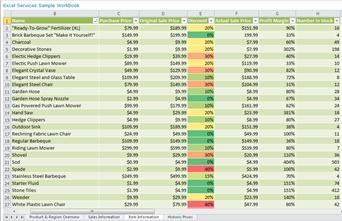 Excel Services Report displayed in a PerformancePoint Web Part