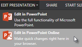 Open in PowerPoint Online