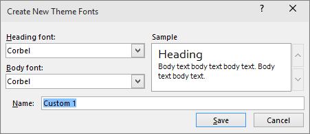 custom fonts dialog in powerpoint