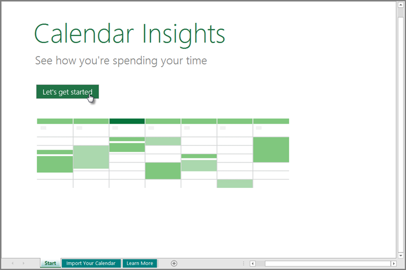manage your calendar with the calendar insights template