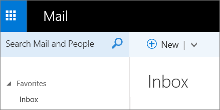 A picture of what the ribbon looks like in Outlook Web App.