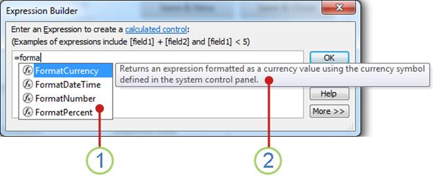 The IntelliSense drop-down list and a Quick-Tip.
