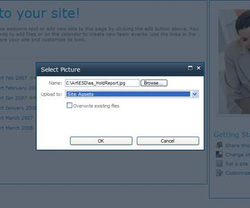Adding an image to a site