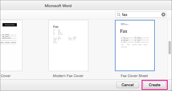fax cover sheet for mac
