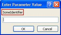 Enter Parameter Value dialog box