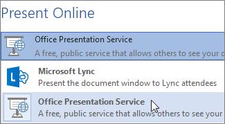 Present Online using Microsoft Lync