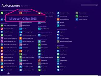 Buscar la aplicación de Office por nombre
