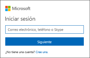 Iniciar sesión en Office con la dirección de correo electrónico y la contraseña de la cuenta de Microsoft
