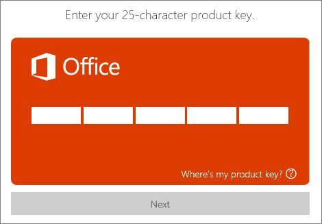Escriba una clave de producto.