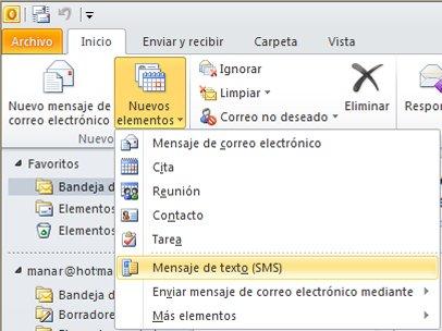 Configuración de mensaje de texto
