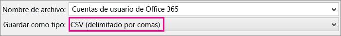 Imagen de cómo guardar un archivo de Excel en formato CSV