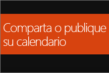 Compartir o publicar el calendario de Office 365