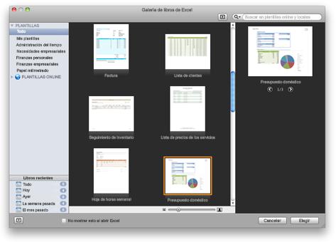 Galería de libros de Excel