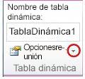 Grupo de tabla dinámica en la ficha Opciones de Herramientas de tabla dinámica