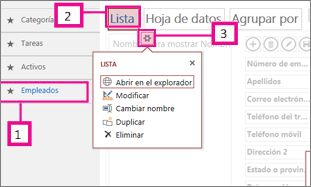 Vistas disponibles para una aplicación de Access