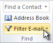 Comando Filtrar correo electrónico de la cinta