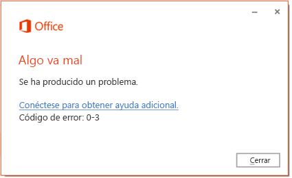 Código de error 0-3