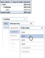 Segmentación de datos de una tabla dinámica