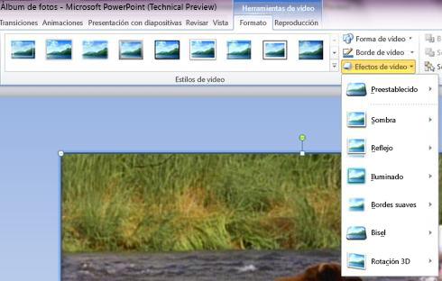 Aplicar efectos especiales al vídeo