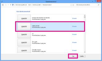 Sisestusmeetodi lisamine opsüsteemis Windows 8