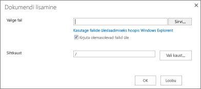 Windows Exploreri abil üleslaadimine