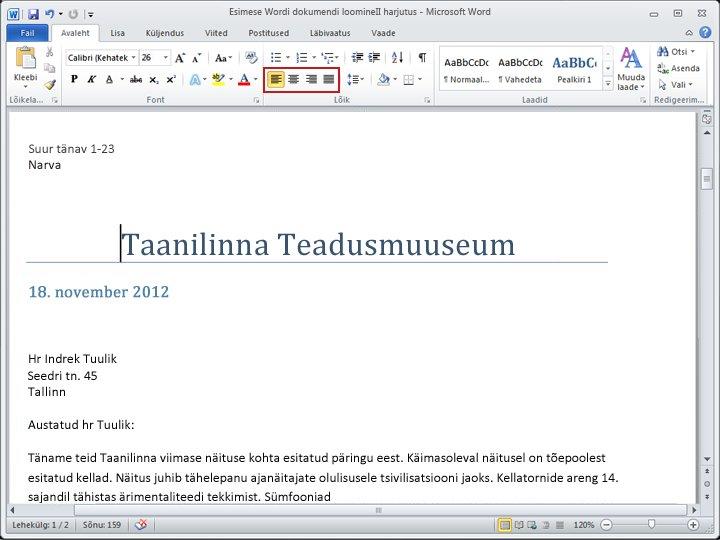 Word 2010 dokument