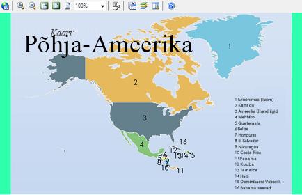 Põhja-Ameerika manustatud Visio skeem