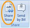 Lähetä tai jaa Officen Tarkista-välilehdestä