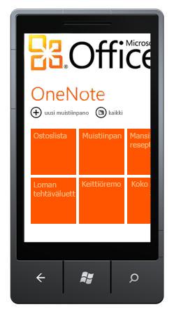 OneNote Mobile 2010 Hub