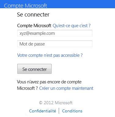 Boîte de dialogue Connexion à OneDrive