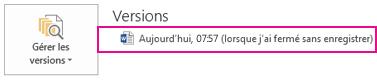 Récupération d'un document enregistré précédemment dans Word2013