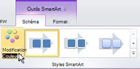 Modification de la couleur de votre graphique SmartArt