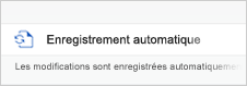 Enregistrement automatique