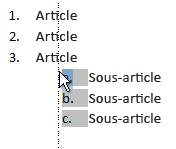Cliquer sur l'élément de la liste pour mettre la liste en évidence et faire glisser vers son nouvel emplacement