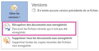 Récupérer des documents non enregistrés dans Word