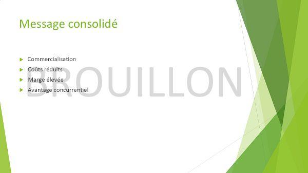 Exemple d'une diapositive PowerPoint avec filigrane Brouillon