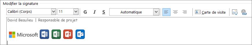 Outlook - Modifier la signature