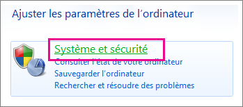 Panneau de configuration de Windows 7