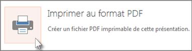 Imprimer des diapositives au formatPDF