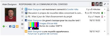 Volet Personnes d'Outlook Social Connector.