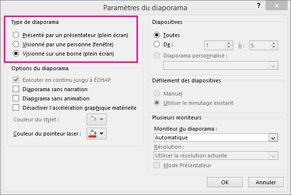 Cr er une pr sentation ex cution automatique powerpoint for Ouvrir fenetre plein ecran windows 7